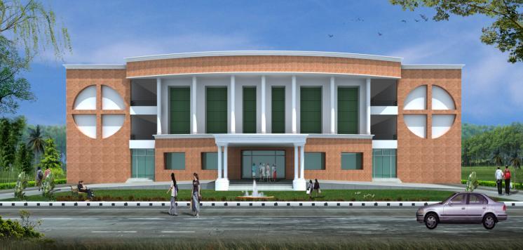 School Building Elevations : Building anantam school